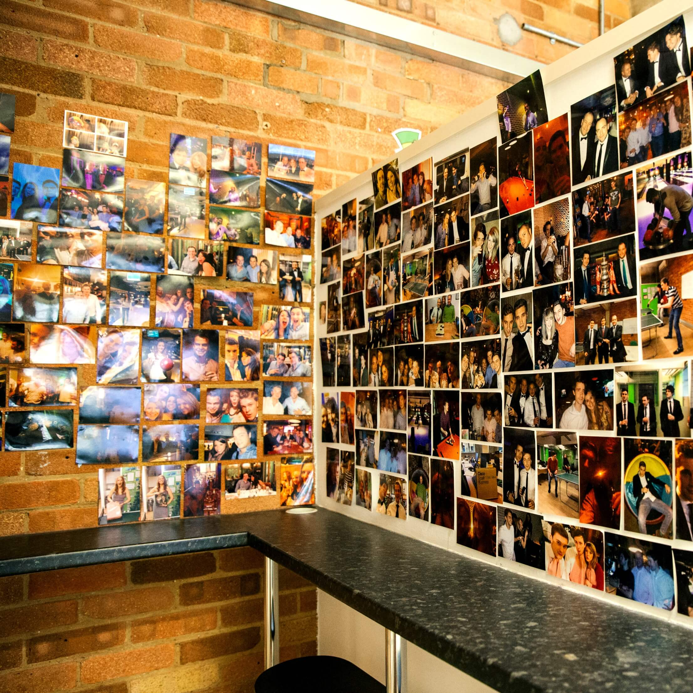 A wall of Photos