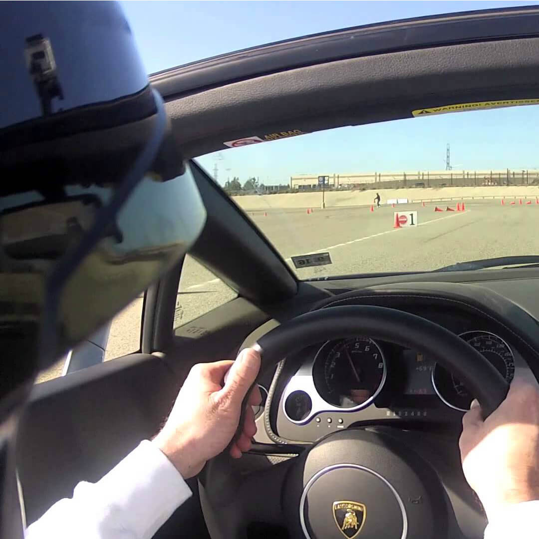 Driving experience with a Lamborghini